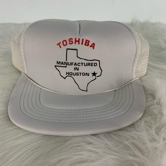 Vintage Other - Vintage Toshiba StrapBack Trucker Hat